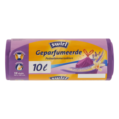 Swirl Geparfumeerde Pedaalemmerzakken Vanille-Lavendel 14 Stuks