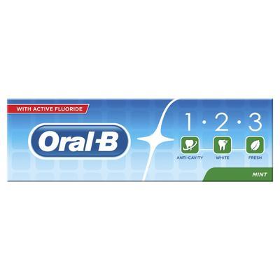 Oral-b 1.2.3 Mint Frisse Tandpasta 75ml