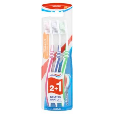 Aquafresh Clean & flex medium 2+1