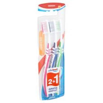 Aquafresh Clean & flex medium Tandenborstel 2+1 gratis