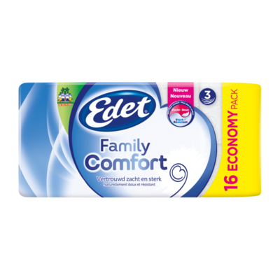 Edet Family Comfort 3-Laags Toiletpapier Economy Pack