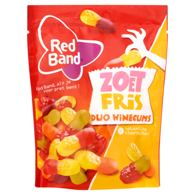 Red Band Zoet Fris Duo Winegums 225 g