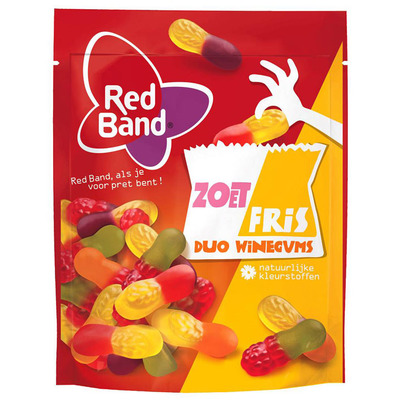 Red Band Zoetfris duo winegums