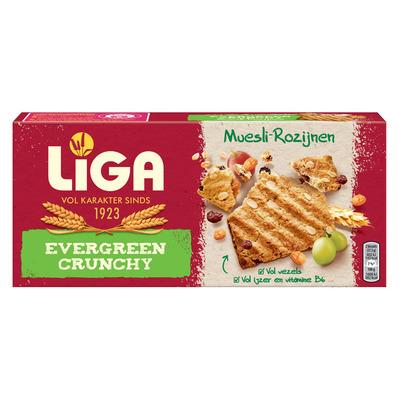Liga Evergreen crunchy muesli-rozijnen