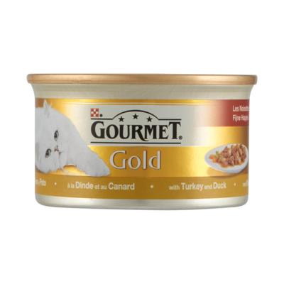 Gourmet Gold Fijne Hapjes in Saus met Kalkoen en Eend