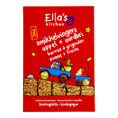 Ella's Kitchen 12+ Smikkelvingers aardbei appel