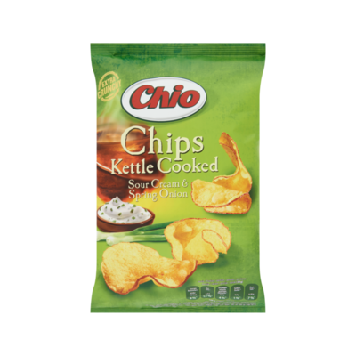 Chio Chips Kettle Cooked Sour Cream & Spring Onion