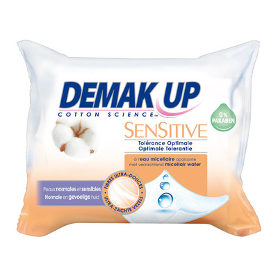 Demak'up Reinigingsdoekjes sensitive gev. huid