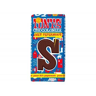 Tony's Chocolade letterreep puur pepernoot s