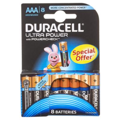 Duracell Ultra power AAA 4 + 4 gratis
