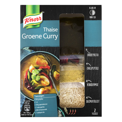 Knorr Wereldspecials groene curry
