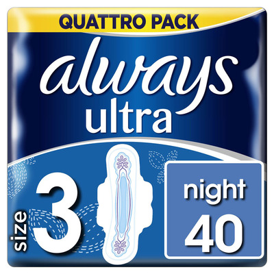 Always Ultra night (maat 3) 40 maandverbanden