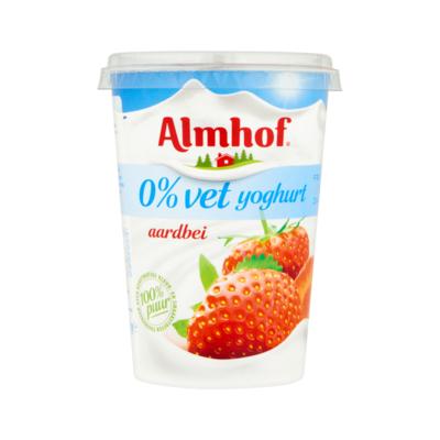 Almhof 0% Vet Yoghurt Aardbei