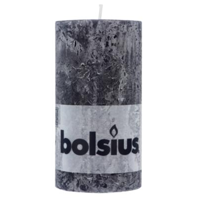 Bolsius Rustiek kaars 130/68 antraciet