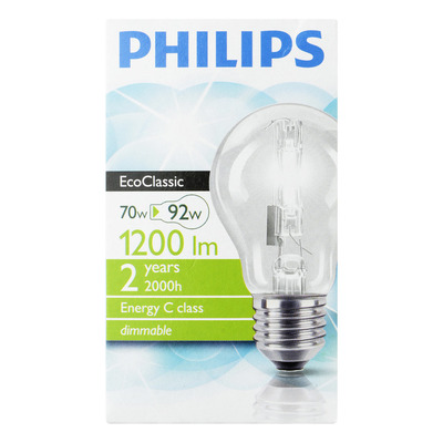 Philips Ecoclassic 30 helder 70W grote fitting