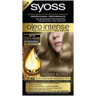 Syoss Oleo intense cool beige blond 7.58