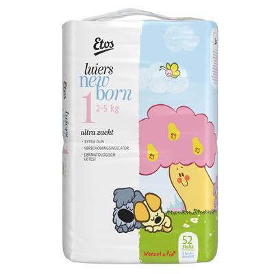 Etos Luiers maat 1 (newborn) 2-5 kg