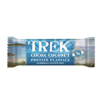 Trek Cocoa coconut protein flapjack gv