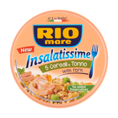 Rio Mare Insalatissime 5 Cereals with Tuna Green Peas and Green Olives