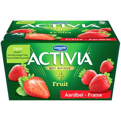 Danone Activia yoghurt aardbei