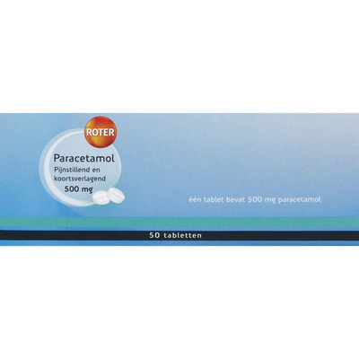Roter Paracetamol 500 mg tabletten