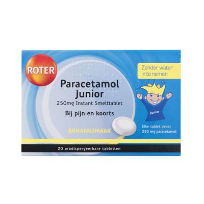 Roter Paracetamol junior 250 mg smelttabletten