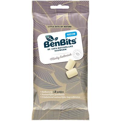 BenBits 100% natuurlijke kauwgom mint-salmiak