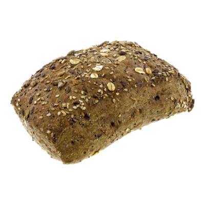 Huismerk Donker meergranen turf broodje