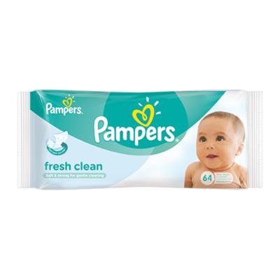 Pampers Fresh Clean Babydoekjes Enkelpak 64 Doekjes