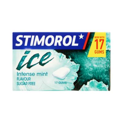 Stimorol Kauwgom Ice Intense Mint Sugar Free Gum 17 Stucks