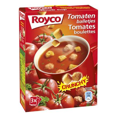Royco Minute Soup crunchy tomaat met balletjes