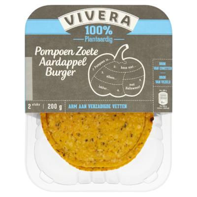 Vivera 100% Plantaardig Champignon Paprika Burger 2 Stuks 200 g