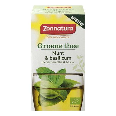 Zonnatura Groene thee munt basilicum bio