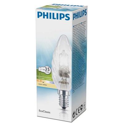 Philips Ecoclassic halolamp gedraaide kaars 35W