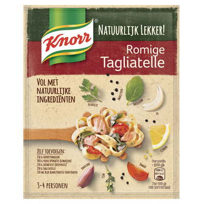 Knorr Natuurlijk lekker romige tagliatelle
