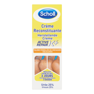 Scholl Herstellende Crème Active Repair K+ Hielkloven