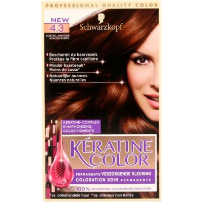 Schwarzkopf Keratine Color 4.3 Subtiel Mahonie