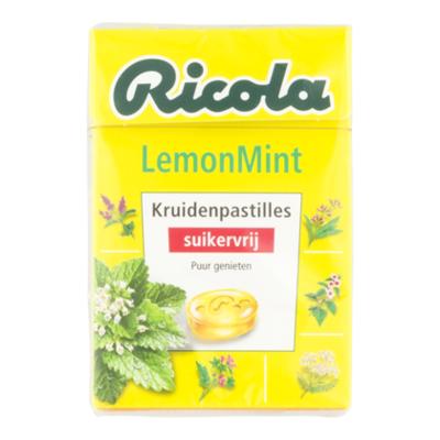 Ricola Lemon mint box (suikervrij)