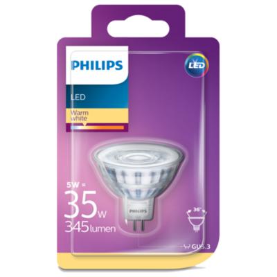 Philips Lamp LED 35W GU5.3 MR 16 WW 36D