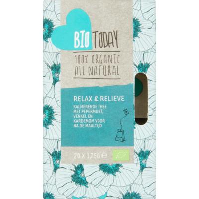 Bio Today Thee organic biologisch relax & relieve 20 zakjes