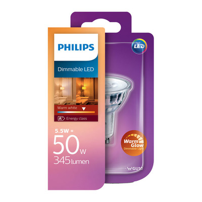 Philips Led dimmable GU10 50W 345 lumen