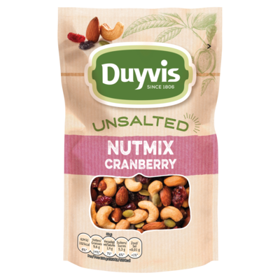 Duyvis Unsalted mix cranberry