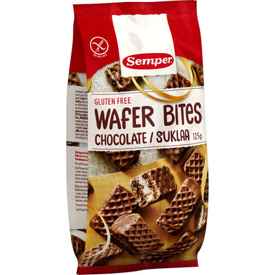 Semper Wafer bites chocolate glutenvrij