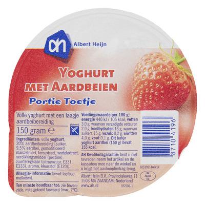 AH Portie yoghurt aardbeien