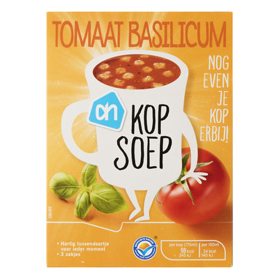 Huismerk Kopsoep tomaat basilicum