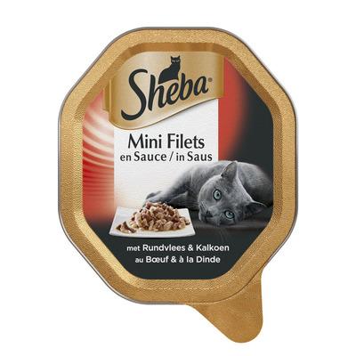 Sheba Mini filetssaus rund & kalkoen