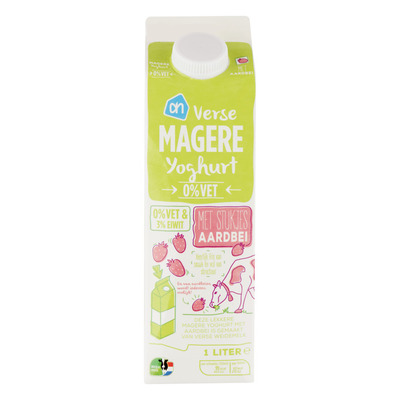 Huismerk Magere yoghurt aardbei