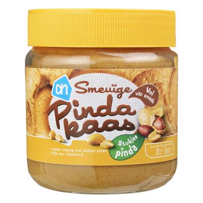 Huismerk Pindakaas met stukjes pinda