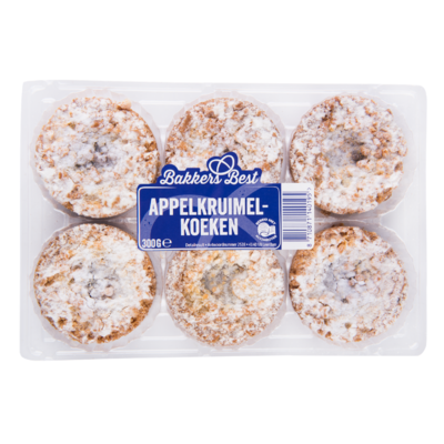 Bakkers Best Appelkruimelkoeken roomboter