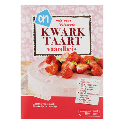 Huismerk Mix voor kwarktaart aardbeien
